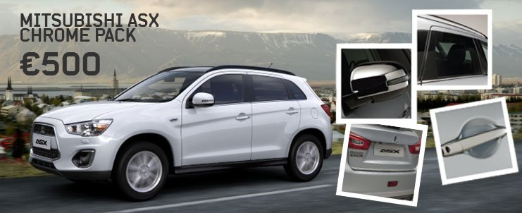 Mitsubishi ASX Accessory Chrome Pack Offer